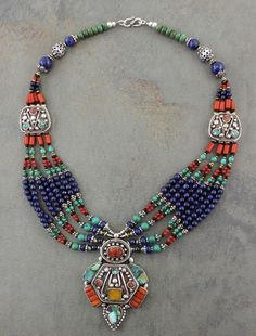 Dharmashop.com - Coral andTurquoise Tibetan Necklace, $129.00 (http://www.dharmashop.com/coral-andturquoise-tibetan-necklace/)