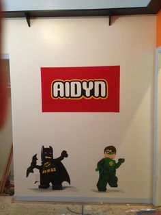 This kiddo loves legos and super heros!  I created a special place just for him.  Check out Kid Murals by Dana Railey on FB or www.scottsdalemurals.com