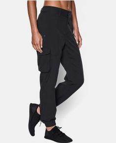 Pantalones UA Delgado Aire tejida de carga de las mujeres