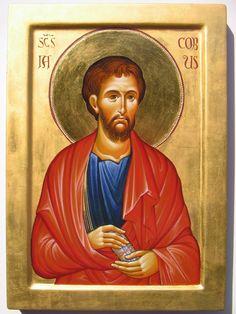 James the Apostle Pictures To Draw, Art Pictures, San Giacomo, Biblical Art, Saint James, Orthodox Icons, Beast, Saints, Illustration Art