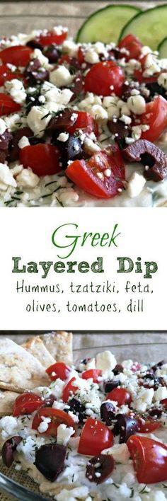 Healthier appetizer option ~ layers of flavor, serve with veggies or pita bread.