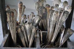 silverware with monograms