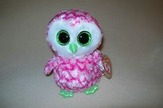 """TY MWMT BUBBLY THE OWL BEANIE BOO- 6"""" BEANIE BOOS- CLAIRE'S EXCLUSIVE- VERY CUTE"""