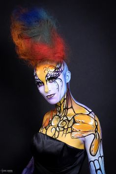 MAKE UP FOR EVER Academy 10 years celebration show,  PROMO 1 - Holidays and Carnivals of the World, MUA : Stéphanie YU