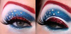 Makeup da fantasia.Capitã América