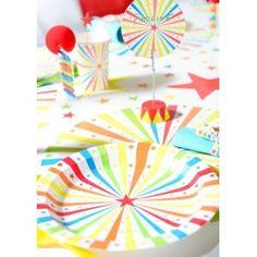Assiette carton cirque étoiles 23 cm les 10