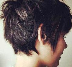 Long Pixie Cut Back