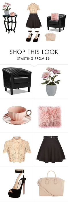 """""""Penthouse Style"""" by trilllexiii ❤ liked on Polyvore featuring Pavilion Broadway, self-portrait, New Look, Prada and Givenchy"""