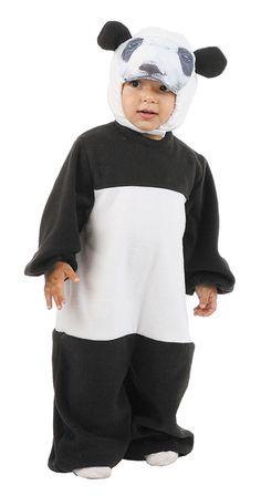 DisfracesMimo, disfraz de osos panda bebe varias tallas. Es ideal para que los pequeños de la familia se sientan auténticos animales fuertes y feroces en sus fiestas de disfraces. Este disfraz es ideal para tus fiestas temáticas de animales para infantil. fabricacion nacional