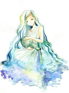 AstroSpirit / Aquarius ♒ / Air / by Menstos on deviantART
