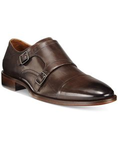Johnston & Murphy Men's Nolen Double Monk Cap Toe Loafers