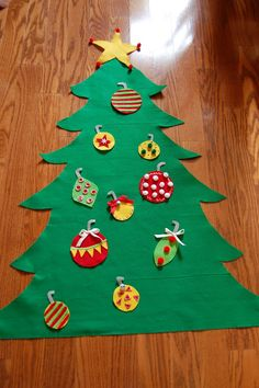 If you are on pinterest, I'm sure you've seen the felt Christmas tree pin floating around. I first saw it HERE  and decided to make one ...