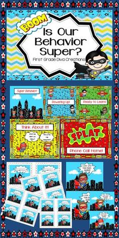 $ This superhero themed behavior management resource will have you ready for the beginning of the year!