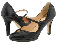 """Heels With Straps: A good idea, particularly if the heel is high. The strap """"makes the shoe come with you"""", which gives you more control when walking."""