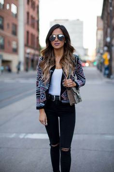 Trending: Silver Hardware. - Mia Mia Mine. Asos Embroidered Jacket, Asos White Ribbed Bodysuit, Topshop Black Jeans, Asos Buckle Boots, Asos Double-Buckle Belt, Quay Sunglasses, Gucci 'Dionysus' Bag