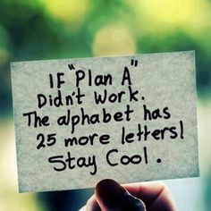 Always good to have 26 plans!