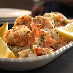 Lemon-Garlic Marinated Shrimp - EatingWell.com. Wow!  Great recipe! Healthy too!