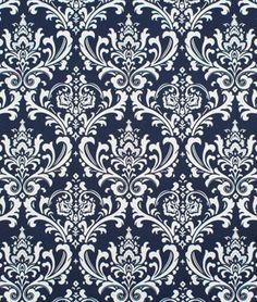 Blue Damask Fabric Premier Prints Premier by TwistedBobbinDesigns