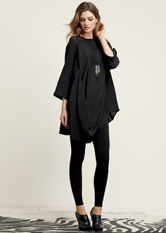 Matte Silk Barrymore Top - The tunic everyone needs for Fall - comfortable, chic, and can easily be dressed up or down.