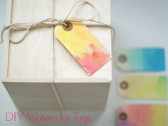 DIY: Watercolor Gift Tags + Watercolor Tips - watercolor party?