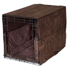 Plush Dog Crate Set w/ Cover + Bed + Bumper Pad                                                                                                                                                      More