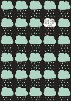 cloud pattern A4 print