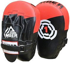 Amber Fight Gear Boxing Focus Mitts  MultiColour by Amber Fight Gear * Want to know more, click on the affiliate link Amazon.com.