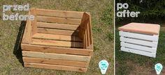 How to make ottoman with storage of wooden box?/ Jak zrobić pufę ze schowkiem z drewnianej skrzynki?
