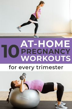 Stay strong and active throughout pregnancy with these 10 FREE PRENATAL WORKOUTS! These pregnancy friendly workouts are designed for fit mamas in their first, second and third trimesters of pregnancy!