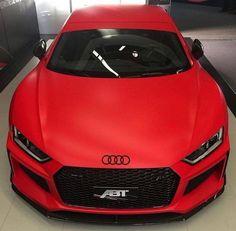 Matte Red Audi - Cars and motor Audi S3 8l, Audi R8 V10, Audi A7, Audi A5 Coupe, Fancy Cars, Cool Cars, Audi Tt 2008, Red Audi, Carros Audi
