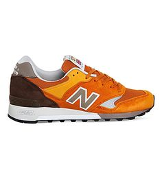 NEW BALANCE M577 leather and mesh trainers. #newbalance #shoes #trainers