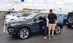 Awesome! Congratulations to Christopher and Caitlin on your new 2018 JEEP COMPASS!  Thank you again, Landmark Chrysler Jeep Fiat and Evan Foster.