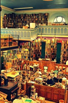Leakey's is an enormous second hand bookshop and cafe in Inverness. Chock-a-block full of really old, kinda old and not-at-all old books and prints and maps and photographs, it's a per…