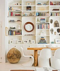 22 Ideas How To Decorate Bookshelves Built In Bookcase Dining Rooms Room Furnishing, Home, House Styles, Bookcase, Shelves, Interior, Bookcase Decor, Shelving, House Interior