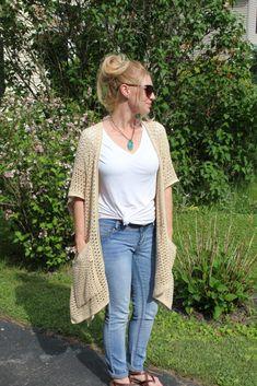 Crochet Cardigan Pattern, Easy Crochet Patterns, Crochet Gift Ideas For Women, Fast Crochet, Summer Cardigan, Unique Crochet, Lightweight Cardigan, Cotton Crochet, Crochet Clothes