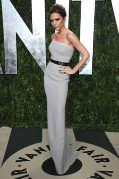 Victoria Beckham at the Oscars after parties 2012 - vanity fair party pictures - red carpet - marie claire