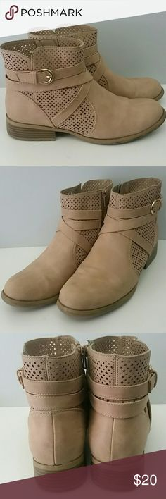 LifeStride Feux Suede Bootie Size 9 EUC...another Reposh. Super cute, just not quite my style. Inside zipper. Worn less than a handful of times. Minimal scuff marks on inside of left shoe, not noticeable when worn. Size 9. Bundle and Save! Lifestyle  Shoes Ankle Boots & Booties