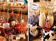 Really elaborate table centerpieces. But who wouldn't love the Heidi at their table?