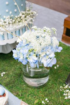 Blooms from a Bottles and Burlap Baby Shower on Kara's Party Ideas | KarasPartyIdeas.com (7)