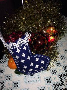 Christmas Stocking by HandmadeParis on Etsy