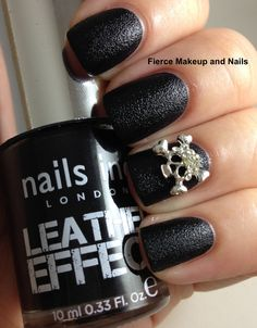 nails inc. leather effect