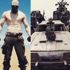 The set of Mad Max: Fury Road. Part 15 Part Cars Part War Boys 1 Part War Boys 2 Part Everyone Part Everyone Part Everyone Part Everyone Part Everyone Part Cars 2 Part Cars Movie Characters, Movies, Movie Cars, Tom Hardy Mad Max, Smart Car Accessories, Steampunk, Armadura Medieval, Mad Max Fury Road, Road Trip With Kids