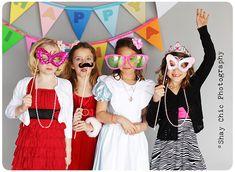Fun girlfriend photo booth fun!  I want to do this at Ella's next Birthday... Please???