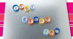 1st graders love this...start making words, sentences, nouns, adjectives with bottle caps