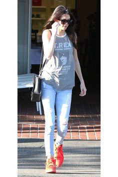 Kendall Jenner's fashion transformation! In West Hollywood, March 2014.