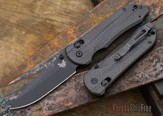 Benchmade Knives: 908BK-1501 Axis Stryker II - Carbon Fiber - Black Blade - Drop Point - CPM M4