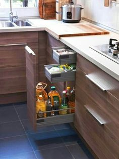 New kitchen cabinets will give a fresh look to your kitchen. Discover the collection of cabinets offered at Jbirdny. Kitchen Sets, Kitchen Pantry, Diy Kitchen, Kitchen Storage, Kitchen Decor, Kitchen Cabinets, Kitchen Walls, Kitchen Drawers, Cupboards