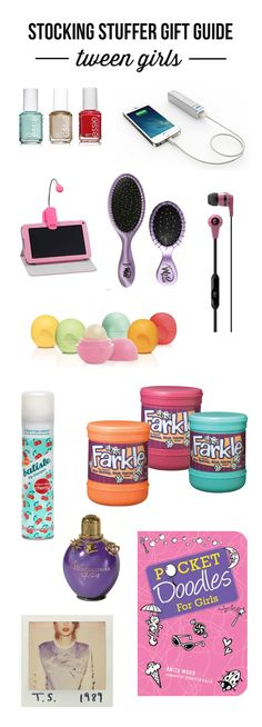 The ultimate stocking stuffer gift guide for tween girls. Lot's of unique and memorable gift ideas!