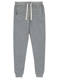 Grey long cotton sport pant #SUN68 #SS16 #woman #pant #sport
