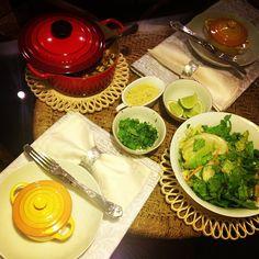 Receita de arroz integral com frango ao curry e salada!